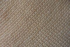 Le Pays de Galles diagonal sur le tissu tricoté par beige image libre de droits