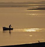 Le Pays de Galles - pêche - Caernarfon images stock