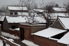 Le pays de la glace et de la neige Photographie stock