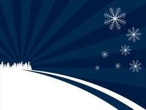 Le pays des merveilles bleu de l'hiver Photos libres de droits