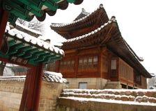 Le pays des merveilles coréen de l'hiver photo stock
