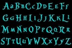 Le pays des merveilles d'imagination d'alphabet d'album à Digital illustration libre de droits