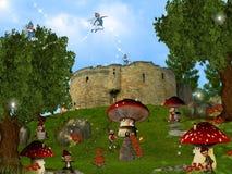 Le pays des merveilles de Gnomes Images libres de droits