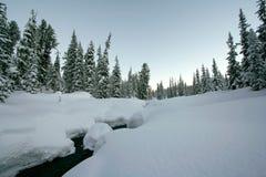 Le pays des merveilles de l'hiver Photographie stock libre de droits