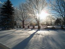 Le pays des merveilles de l'hiver Photo libre de droits