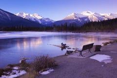 Le pays des merveilles de l'hiver dans les Rocheuses images libres de droits