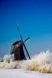 le pays des merveilles de l'hiver de la Hollande Photos stock