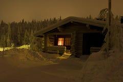Le pays des merveilles de l'hiver de la Laponie Photos libres de droits