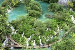Le pays des merveilles de nature de lacs Plitvice Photo stock