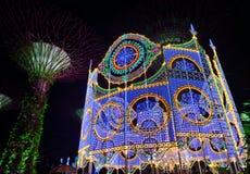 Le pays des merveilles de Noël aux jardins par la baie, Singapour photo stock