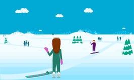 Le pays des merveilles de sports d'hiver Images stock