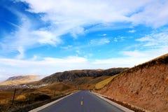 Le paysage automnal du plateau du Qinghai - du Thibet Images libres de droits