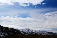 Le paysage automnal du plateau du Qinghai - du Thibet Photo stock