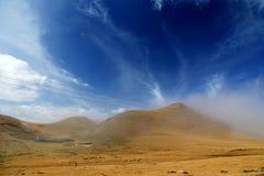 Le paysage automnal du plateau du Qinghai - du Thibet Photographie stock