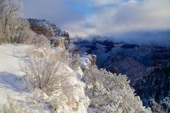 Tempête d'hiver de canyon grand Photographie stock libre de droits