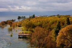 Le paysage d'Erhai Photographie stock