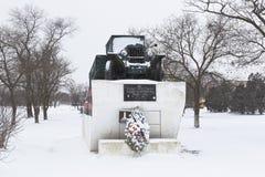 Le paysage d'hiver de la rue de la 2ème garde l'armée avec un lundi Image libre de droits