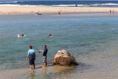 Le paysage dans des stephens de port, Australie Images libres de droits