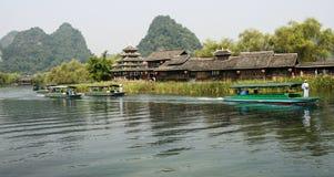 Le paysage dans la terre de la beauté idyllique du secteur scénique de Guilin Images libres de droits