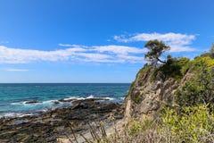 Le paysage dans le merimbula, Australie Photos libres de droits