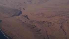 Le paysage de désert de l'Egypte ressemble au paysage de planète de Mars Photographie stock
