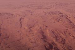 Le paysage de désert de l'Egypte ressemble au paysage de planète de Mars Photos stock