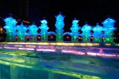 Le paysage de festival de glace-lanterne Image stock