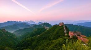 Le paysage de Grande Muraille Photos libres de droits