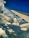 Le paysage de l'avion Photographie stock