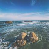 Le paysage de l'Océan Indien Belle vue d'une mer Image stock