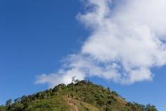 Le paysage de la vallée et du beau ciel de la Thaïlande photographie stock