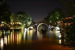 Le paysage de la ville antique de Wuzhen chez Zhejiang, Chine Photos stock