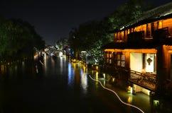 Le paysage de la ville antique de Wuzhen chez Zhejiang, Chine Photo stock