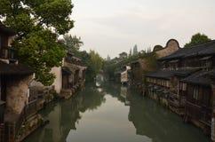 Le paysage de la ville antique de Wuzhen chez Zhejiang, Chine Images libres de droits