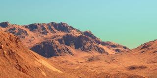 Le paysage de Mars, 3d rendent Photos libres de droits