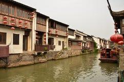 Le paysage de rue de Shantang à Suzhou, Chine Photos libres de droits