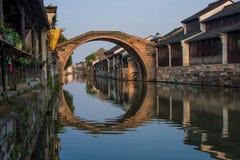Le paysage de ville antique dans Nanxun Photo stock