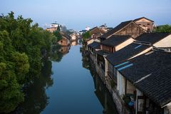 Le paysage de ville antique dans Nanxun Photographie stock
