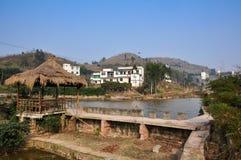 Le paysage des villages en Chine Image libre de droits