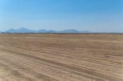 Le paysage du désert chaud en Egypte Photos libres de droits