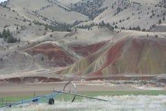 Le paysage du ` s de l'Orégon a peint le ` national l l'image 2 de collines de monument Images stock