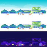 Le paysage du secteur d'entrepôt Photo stock