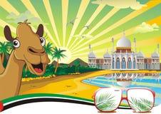 Le paysage, le palais arabe sur la côte Photographie stock