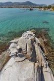Le paysage marin étonnant des kolymbithres échouent, île de Paros, Grèce Photo libre de droits