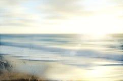 Le paysage marin abstrait de mer avec le vieux papier a brouillé le mouvement de cuisson Image stock