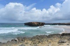 Le paysage marin de l'extérieur a abandonné la plage connue sous le nom de Boca Keto Image libre de droits