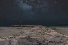 Le paysage marin du holbox Mexique images libres de droits