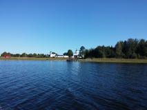 Le paysage pittoresque du lac Seliger Photos stock