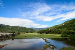 Le paysage rural en Phan a sonné, le Vietnam photographie stock