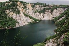 Le paysage scénique de nature de la vieille exploitation de roche dans le nom est Grand Canyon Chonburi à Pattaya, Thaïlande images libres de droits